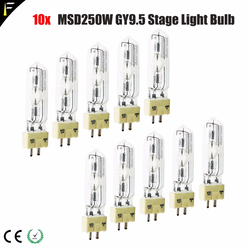 10pcs lot Stage Light Computer Moving Head Bulb Wizard Light MSD250W Single Ended Bubble MSD 250