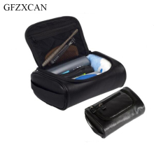New travel PU leather cosmetic bag men and women must-have zipper large-capacity waterproof makeup wash