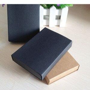 Image 5 - Caixa de presente preta de varejo 50 pçs/lote, embalagem de caixas de papelão para gaveta de papel de presente artesanato