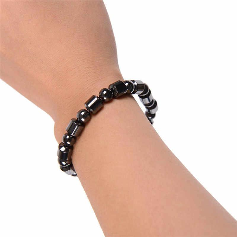 Потеря веса круглый черный камень браслет для магнитотерапии здоровья роскошный 1 шт