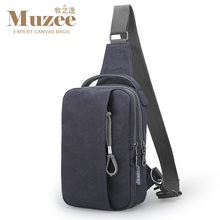 Single-strap muzee capacity retro canvas large handbag waist travel shoulder men