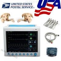 FDA ветеринар Ветеринария жизненно важных реанимации пациента Мониторы 6 параметр для собаки/кошки/лошадь cms8000vet CONTEC ЭКГ, resp, spo2, pr, nibp
