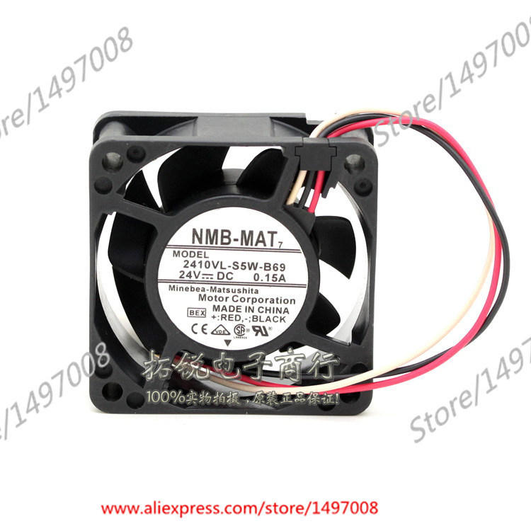 NMB-MAT  2410VL-S5W-B69, BEX  DC 24V 0.15A     60X60X25mm Server Square fan bex rox ожерелье