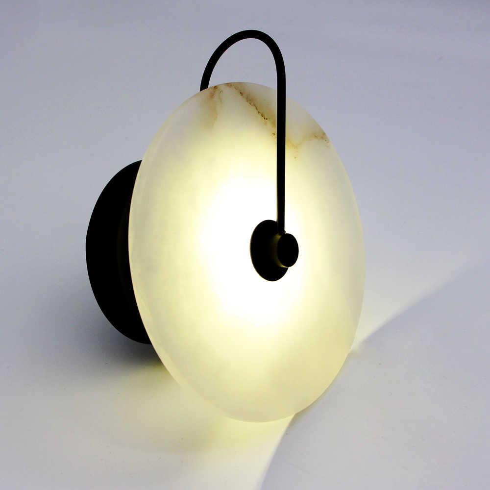 Zerouno moderno arandela lâmpada de parede luz mármore abajur led luminária para decoração casa quarto lâmpadas cobre preto lampadas
