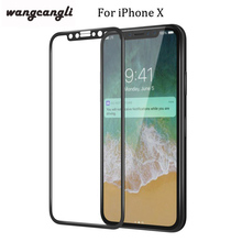 wangcangli 3D Full Cover Tempered Glass For iPhone 7/8X plus 9H 3D/4D Curved Edge Screen Protector 6s Glasswangcangli
