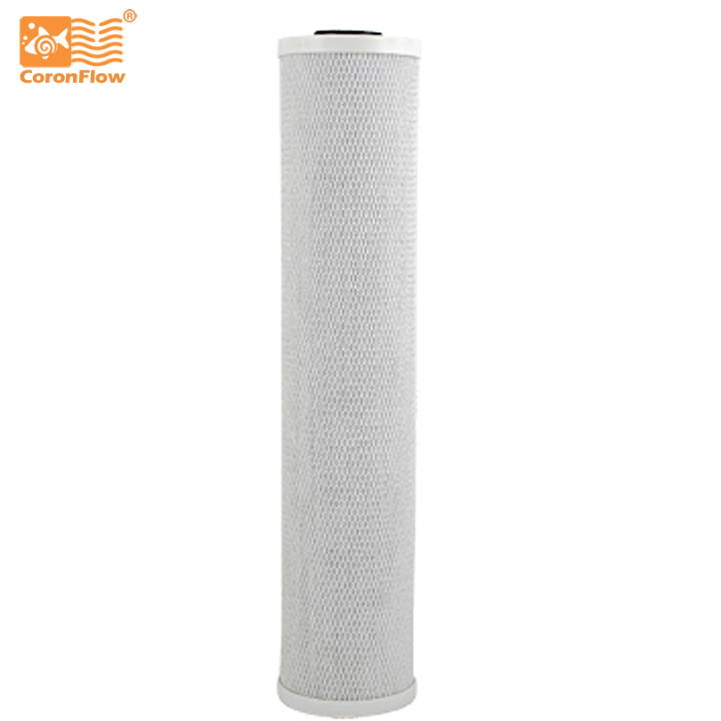 Coronflow 4.5x 20 BB Activated Carbon Block 20 Filter Cartridge CTO to Water Filter 2pcs 20 universal water filter activated carbon cartridge filter 20 inch cto block carbon filter water purifier