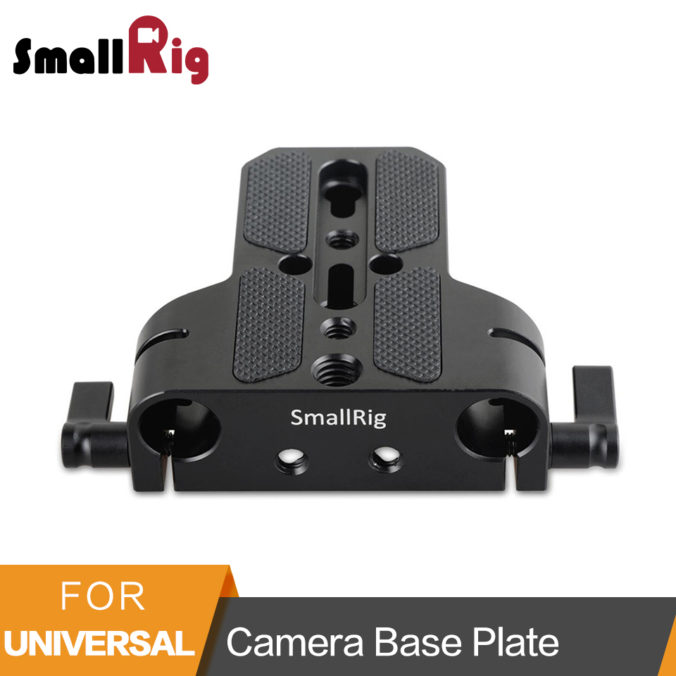 SmallRig Camera Base Plate With Dual 15mm Rod Rail Clamp for Sony FS7/Sony A7 Series/Canon C100/C300/C500/Panasonic GH5 - 1674