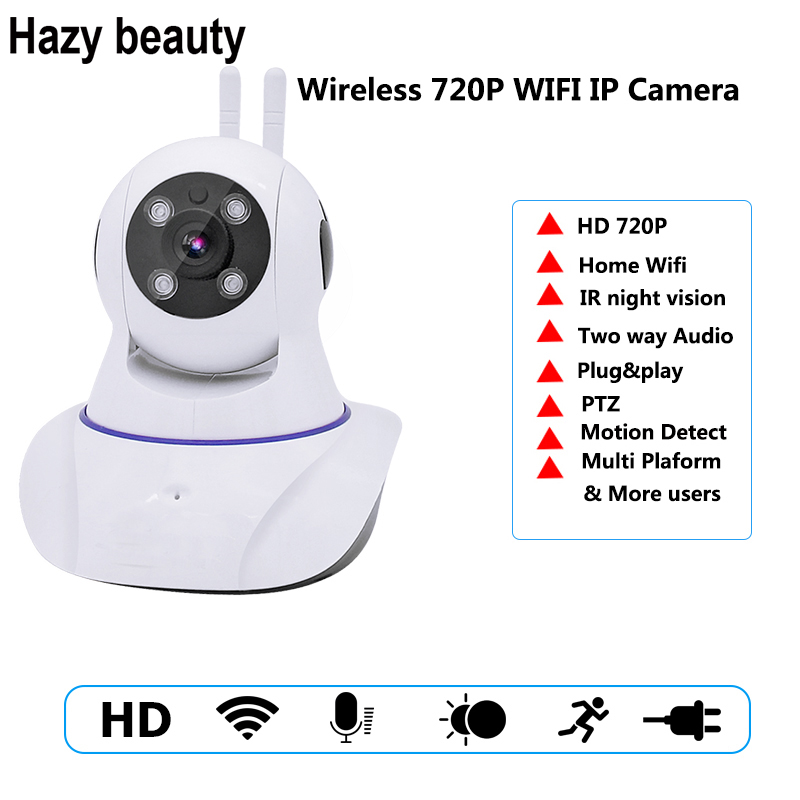 Hazy beauty 720P Pan Tilt Security IP Camera WiFi Home Security CCTV Camera with Night Vision Two Way Audio P2P Remote View fghgf 720p wireless ip security camera baby pet video monitor home security system with pan and tilt two way audio night vision