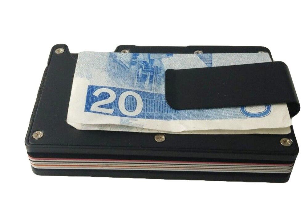 Artmi Mens Slim Money Clip Ljus Namn Hållare Aluminium RFID - Plånböcker - Foto 5