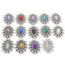 Rhinestone Flatback Strass Retro Buttons Metal Applique Sew On Crystal Botones For Craft Trim Embellishment  Acrylic Diamond