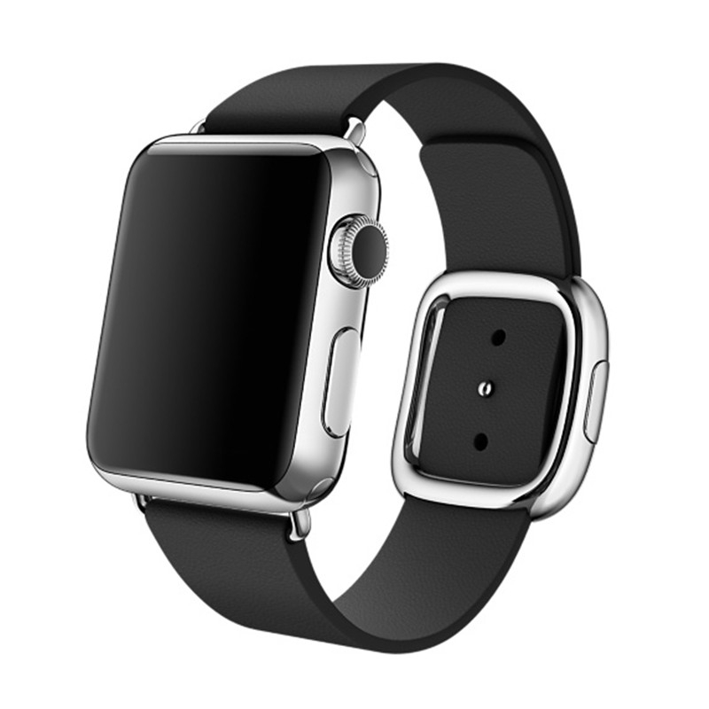 Leather modern buckle band for apple watch 3 2 1 strap 42mm/38mm bracelet Genuine Leather wrist belt watchband for iwatch band цена и фото