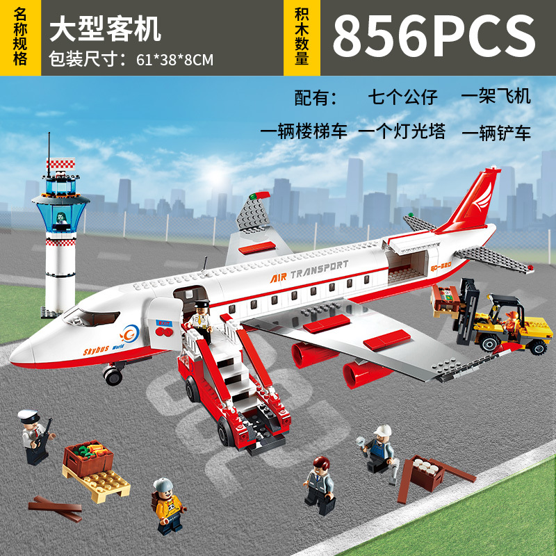 8913 856pcs Aircraft Constructor Model Kit Blocks Compatible LEGO Bricks Toys For Boys Girls Children Modeling