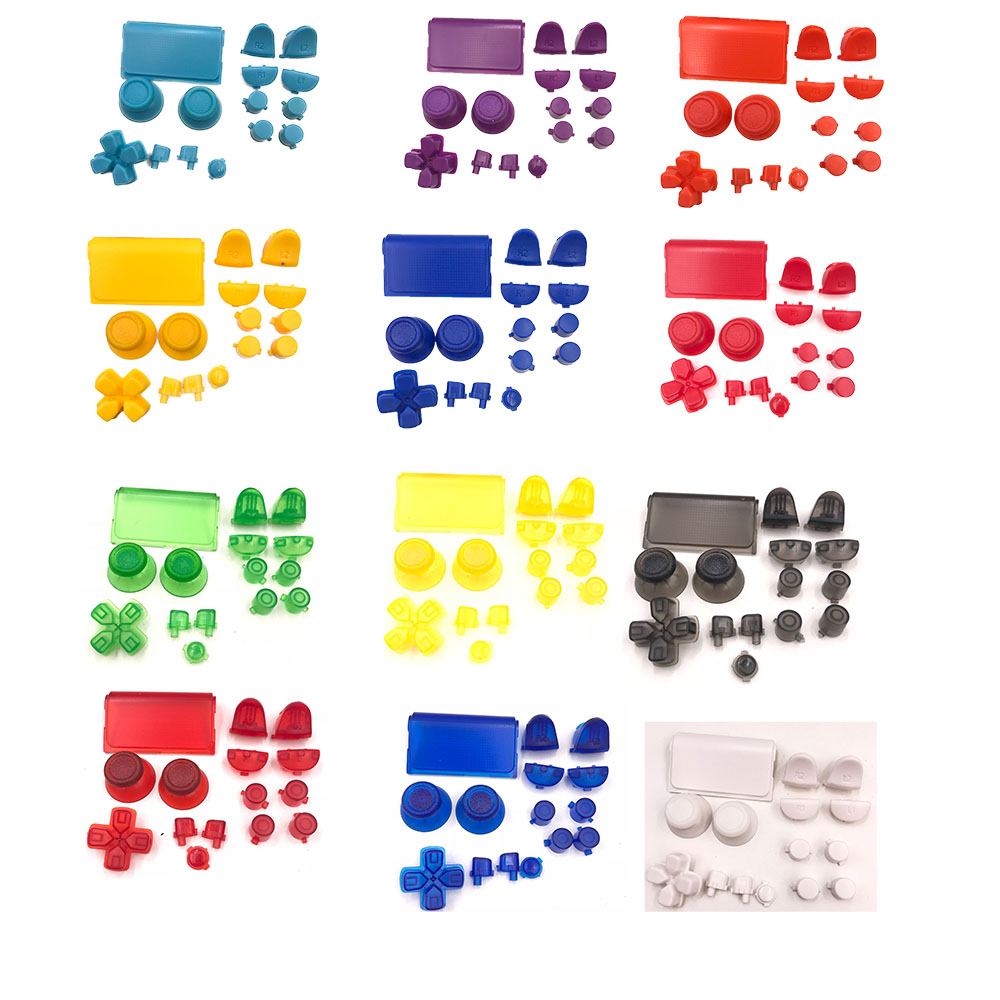 Colorful Full Set Thumbstick  D-pad R1 L1 R2 L2 Direction Key ABXY Buttons JDS001 011 For Sony PS4  Controller