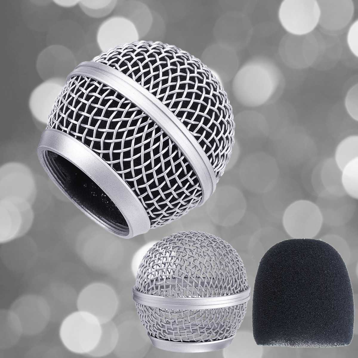 Imitated Silk Ball Head Mesh Microphone Grille Fits Windscreen Professional Replacement For Shure BETA58 BETA58A SM58 SM58S