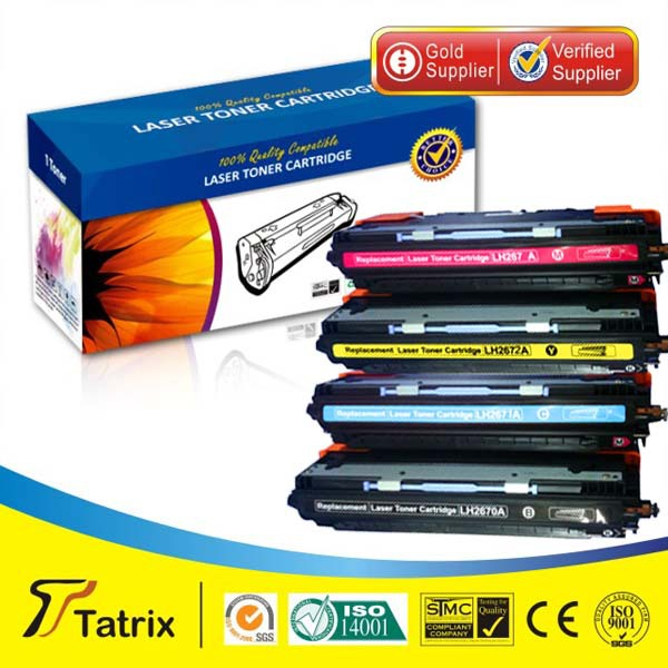 Q2670A-Q2673A toner cartridge with new OPC compatible for HP LaserJet3500/3550/3700Color Series printer ,free shipping гостиная эльза шкаф торцевой св 430 левый дуб беленый