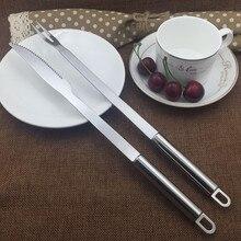 Барбекю Нержавеющая сталь ножей барбекю из металла Кухня Тонг