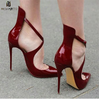 Prova Perfetto New High Heels Pumps Shoes Zapatos Mujer Tacon Escarpins Ponited Toe Thin High Heels Sandals Ladies Party Shoes