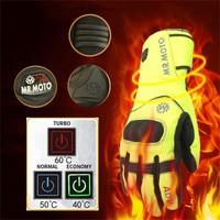 waterproof warmth riding motorbike gloves full finger heating winter moto handglove Charge electric heat glove motorcycle glove