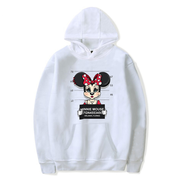 DAYIFUN new mickey print hoodies women tops hip hop casual funny dog mouse cartoon hoody homme fitness cotton Hooded hoody WT01
