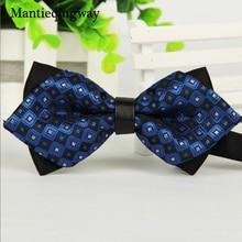 Mantieqingway, простой мужской костюм, галстук-бабочка для жениха, Свадебная вечеринка, Мужская официальная одежда, деловой галстук, галстук-бабочка, аксессуары для одежды
