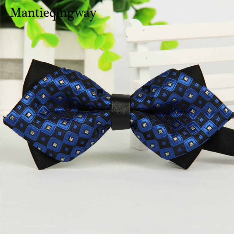 Mantieqingway Enkelt mäns kostym Bow Slips för brudgum Bröllopsfest Män Formellt slitage Företag Cravat Slips Kläder Accessoarer