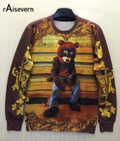 Raisevern Star Love 3D Sweatshirt Miley Cyrus Tupac Bear Minions Bart Simpson Printed Women Hoody American