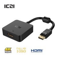 ICZI DisplayPort To HDMI Gold Plated 4K HDTV Adapter Converter For DisplayPort To Connect To HDMI
