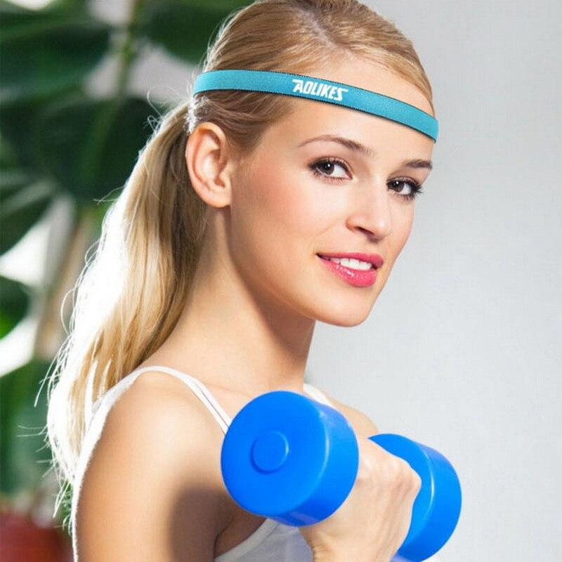 Yoga Hair Bands Women Sports Headband Men Running Sweatbands Nylon Anti-slip Head Band 9 Colors Elastic Fitness Headbands