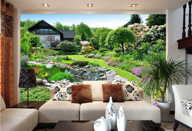 3d customized wall Murals for Living Room 8D landscape mural 5d Wall