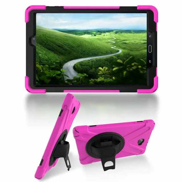 Cover Voor Samsung Galaxy Tab S2 T810 T815 Tablet Case Heavy Duty Armor Schokbestendig KickStand Soft Tablet Shell protectors + pen