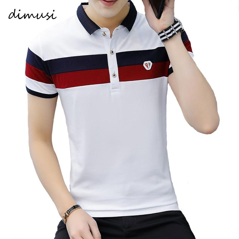 DIMUSI Summer Men's Polos Mens Casual Breathable Cotton Short Sleeve Polo Shirts Fashion Turndown Collar Polo Men Clothing 4XL