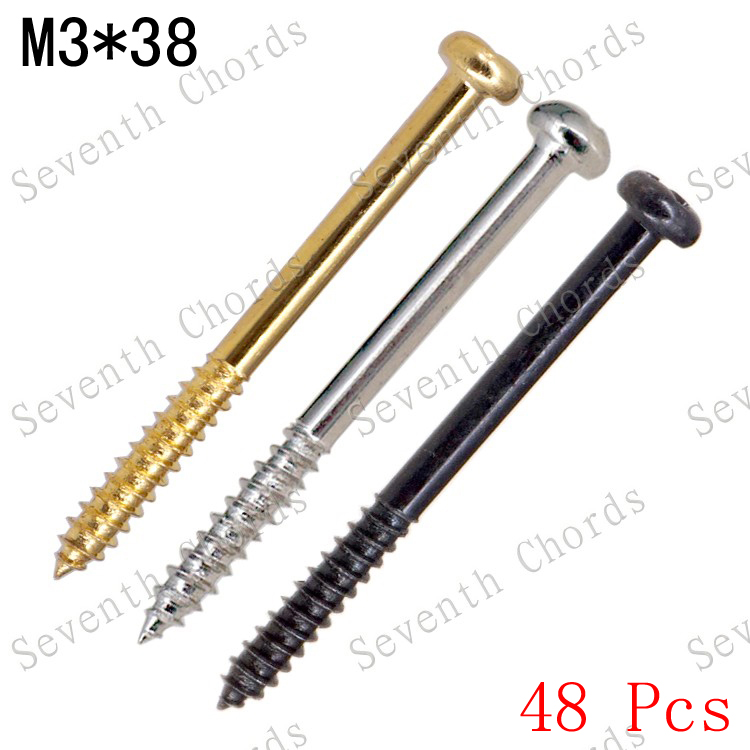 48 pcs 3 colour m3 38mm electric bass guitar pickup mounted adjust height screws in guitar parts. Black Bedroom Furniture Sets. Home Design Ideas
