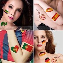 2018 Copa del Mundo bandera del país de la manera fútbol deporte olímpico  tatuaje temporal 10 piezas juegos de fútbol etiqueta e. 3fa6c0ce6977c