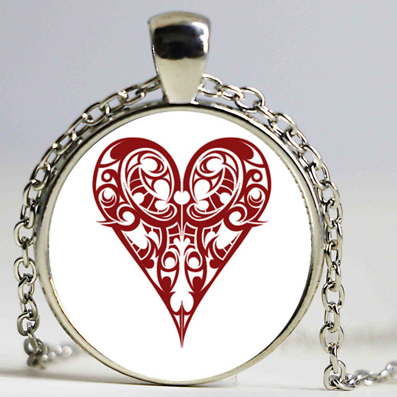 pas mal 2d1ca 6f0eb US $2.81 6% OFF|New Creative DIY Poker Suit Jewellry Spade Heart Club  statement necklace boho Glass Cabochon bijoux-in Pendant Necklaces from  Jewelry ...