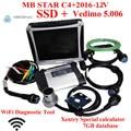 Qualidade superior mb estrela c4 Chip Full V201612 com Militar Notbook CF19 mb estrela sd c4 Mb Estrela diagnóstico ferramenta de trabalho com car + truck
