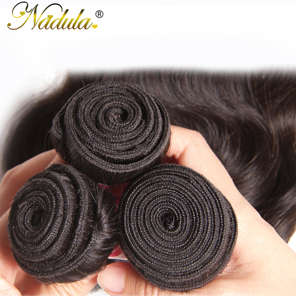 Nadula Hair 3 Bundles/4pc/Lot  Body Wave Hair s 8-30inch  Hair s 100%    4