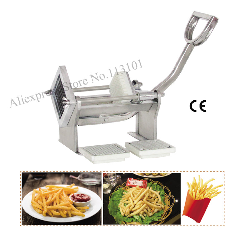 Horizontal potato slicer stainless steel potato cutter Potato Chips Cutter machine with 3 kinds of cut moulds gqd kie 001 stainless steel kiwi slicer cutter rind removal tool silver