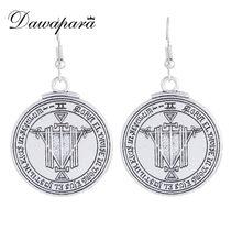 Dawapara – boucles d'oreilles Talisman pour femmes, bijoux avec pendentif, amulette, Pentacle, supernature, wicca