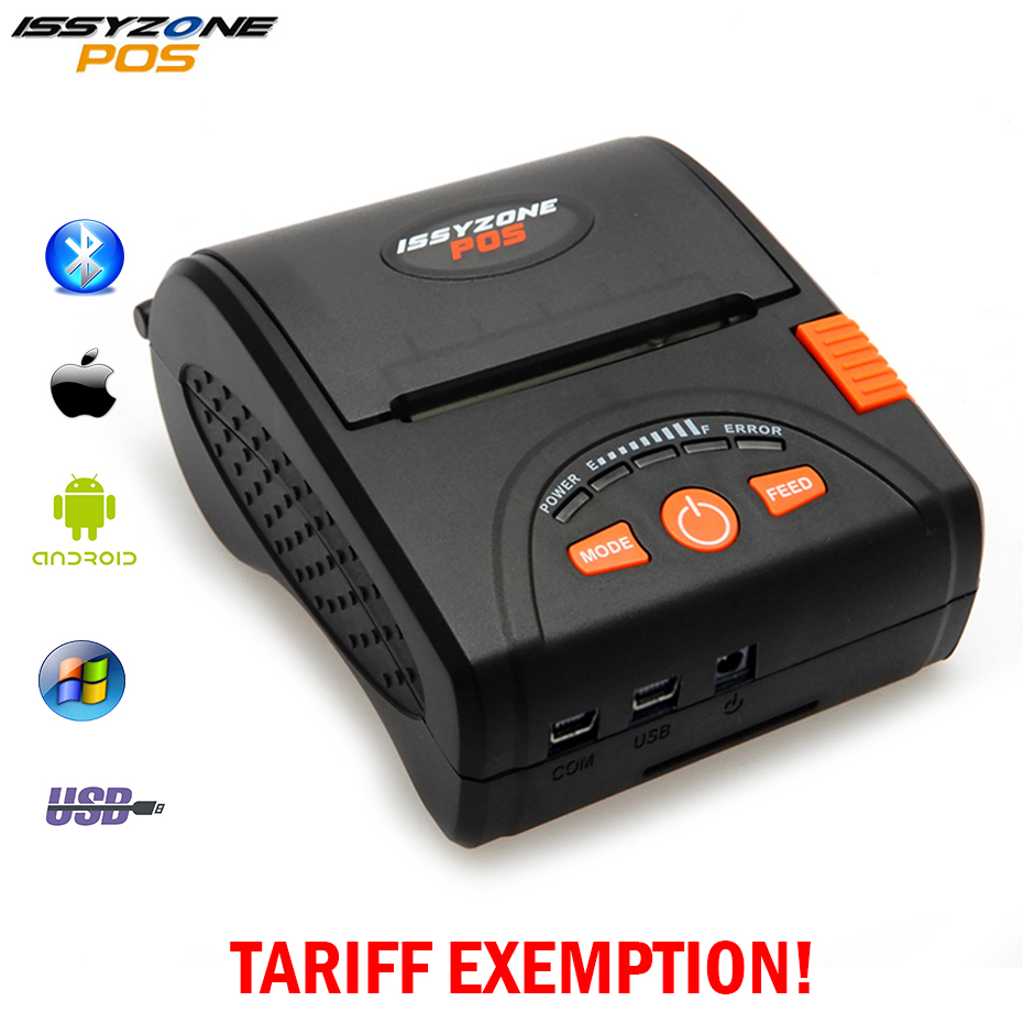 IssyzonePOS Bluetooth Thermal Printer Mobile Mini 58mm Portable Receipt Handheld Pos Printers Bluetooth for Android IOS System nt 1805dd 58mm bluetooth thermal receipt printer portable mini bluetooth printer for android and ios mobile pos printer