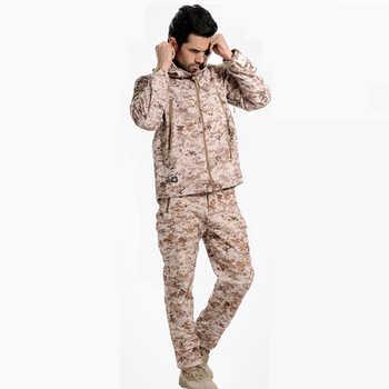 AichAngeI 防水ソフトシェルの男のジャケットのスーツの男性迷彩軍事戦術的な衣類軍迷彩制服 militar セット