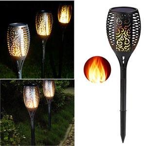 Image 4 - 96 LED שמש מנורה חיצוני עמיד למים גן קרקע הכנסה שמש להבת אור חצר נוף כביש תאורה