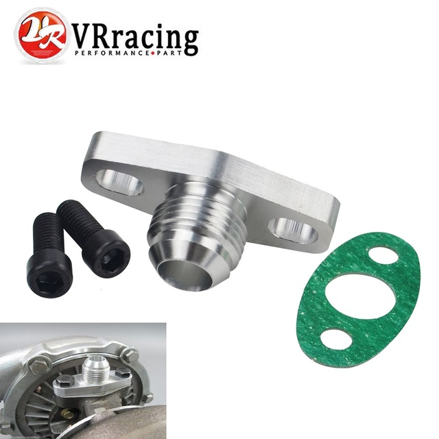 VR RACING - Turbo Oil Return/Drain Flange Adapter AN10 for GT28 GT30 GT35 T25 VR-OFG34