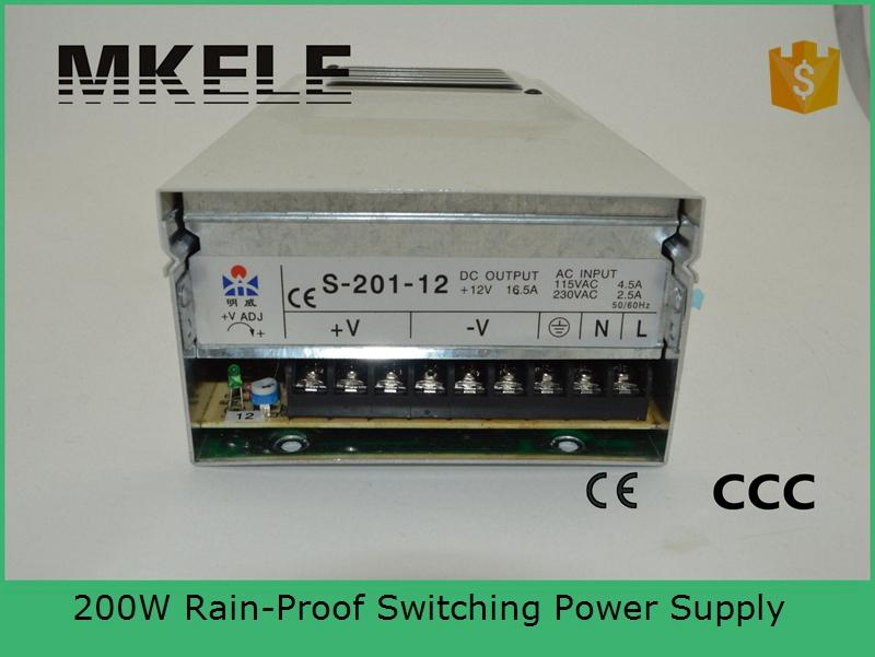 ФОТО CE approved rain proof 200w 24v FY-201-24 8.3A Switching Power Supply Driver For CCTV LED Light Strip Display 220V / 110V