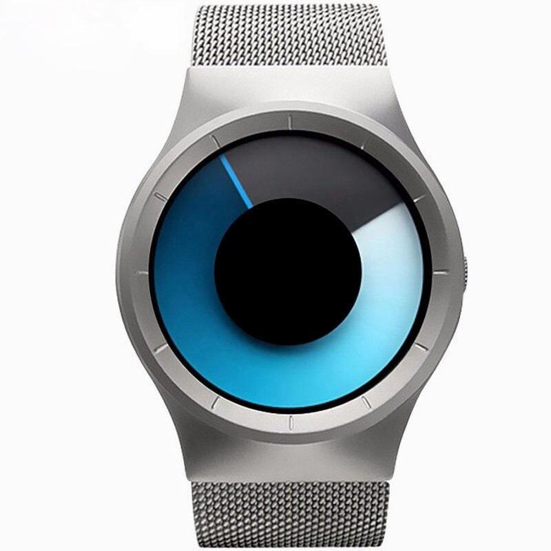 Творчески Часы Для мужчин и Для женщин браслет Часы ультра тонкий Нержавеющаясталь сетка Группа Повседневное кварцевые наручные часы