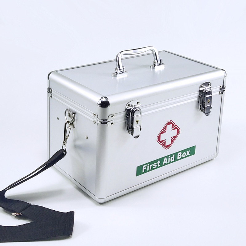 US $50 49 49% OFF|Lockable First Aid box Security Lock Medicine Storage  with Portable Handle Compartments Medication Small Cabinet Medium-in  Emergency