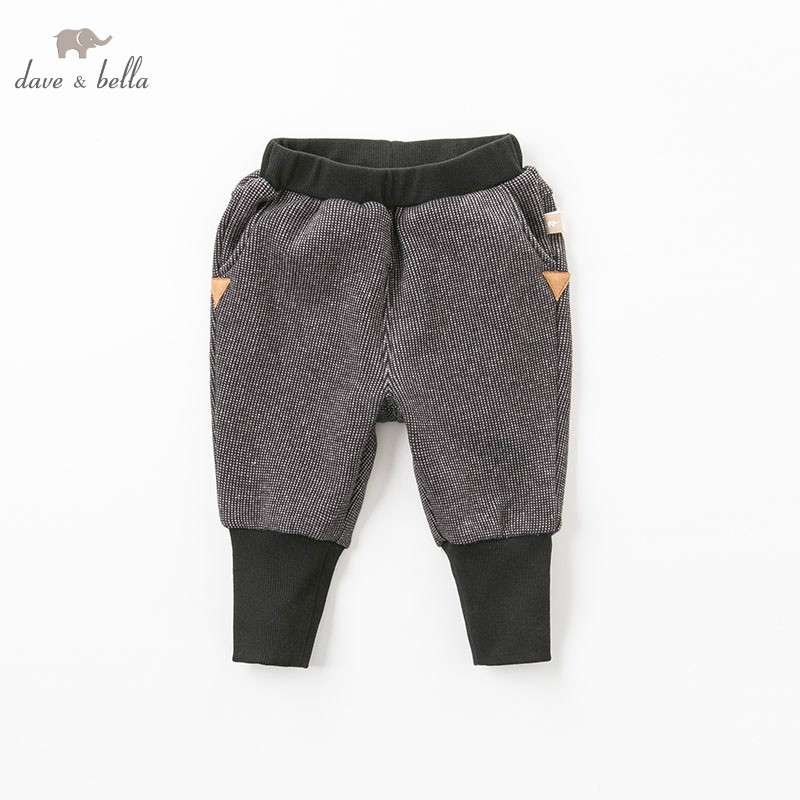 DB8548 dave bella winter autumn baby unisex pants children full length pants infant toddler trousers db6938 dave bella winter baby girls full length kids fashion pink pants children trousers
