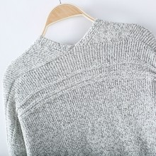 Long Sleeve Loose Knitted Cardigan Pocket Sweater