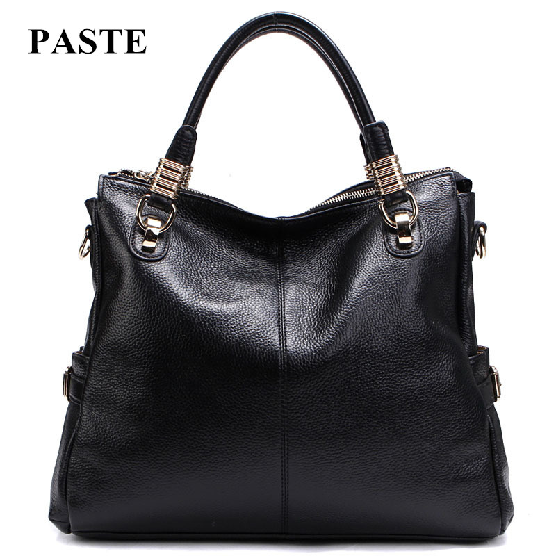 2017 Hot selling women 100% genuine leather handbag/ all-match fashion cowhide leather woman shoulder bags/ lady's messenger bag