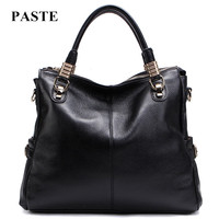2018 Hot selling women 100% genuine leather handbag/ all match fashion cowhide leather woman shoulder bags/ lady's messenger bag