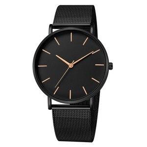 البساطة الحديثة ساعة كوارتز النساء شبكة الفولاذ المقاوم للصدأ سوار عالية الجودة عارضة ساعة معصم للمرأة Montre فام D20